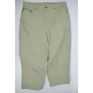 Ralph Lauren 100% Cotton Khaki Capri Pants